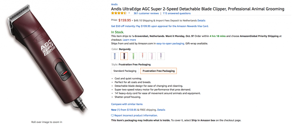 Andis AGC superspeed 2 Amazon reviews