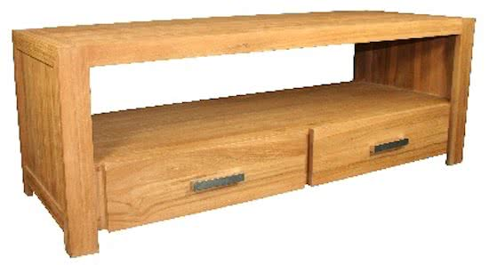 Teak hout TV meubel met 2 laden - Malou