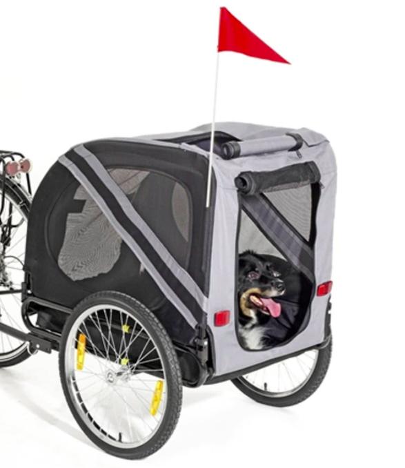 Karlie Doggy Liner Economy - Hondenfietskar - Grijs:Zwart