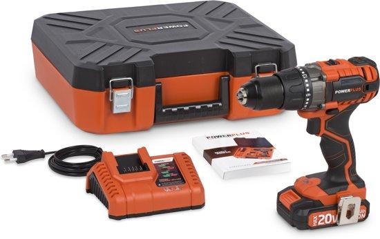 Powerplus Dual Power POWDP1515 Accuboormachine 20 V – Incl. 20V Li-ion accu en lader