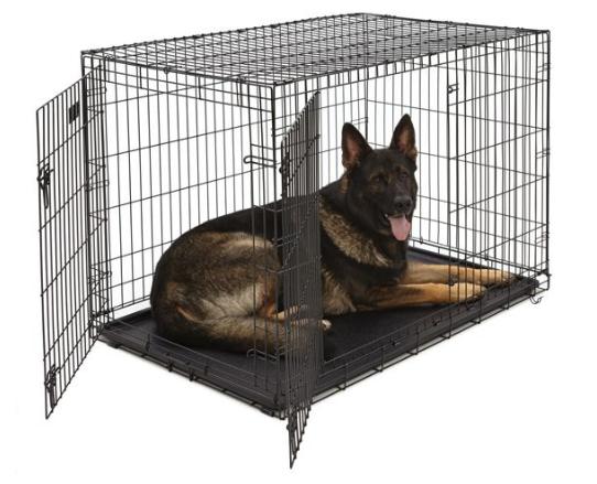 Hondenbench met 2 deuren zwart