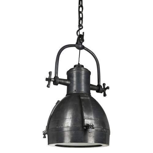 Aluminium lead look lamp round super