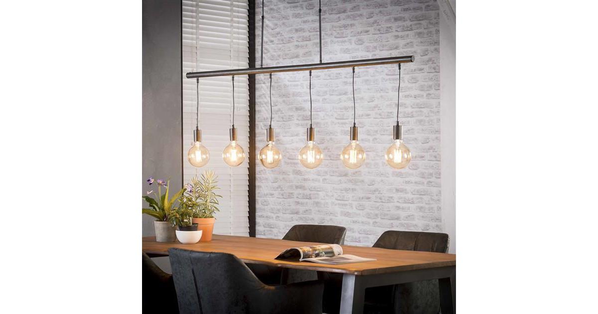 Hanglamp 6L buisframe / Charcoal