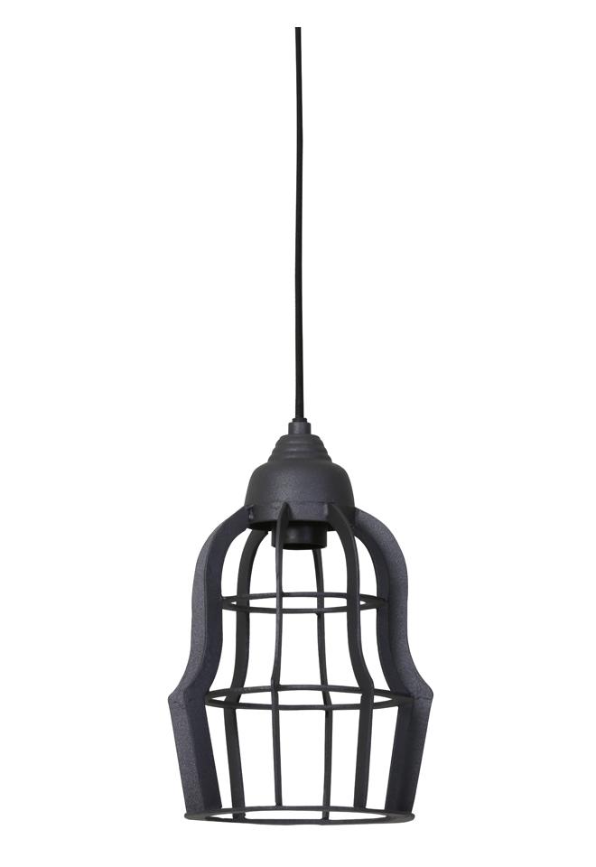 Light & Living Hanglamp 'Bracha' 18.5cm, industrieel grijs