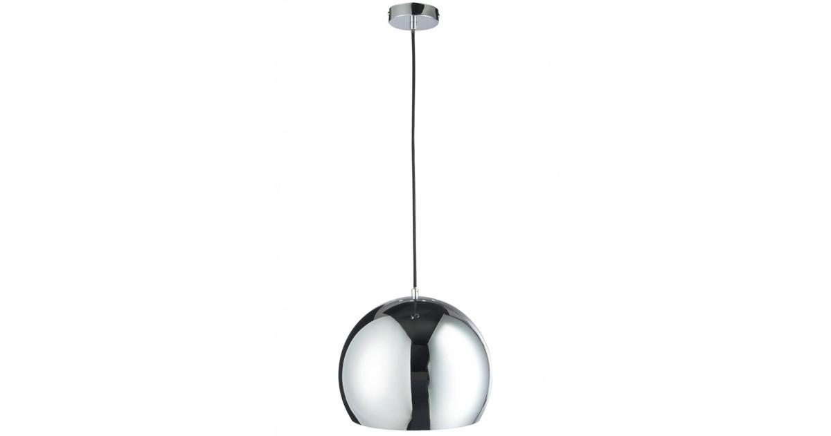 Seventies - Hanglamp - bol - zilverkleurig - dia 30x120cm